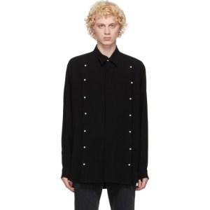 Johnlawrencesullivan Black Front Side Buttoned Shirt