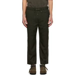 OAMC Green Cropped Drawcord Trousers