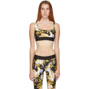 Versace Underwear White Allover Print Sport Bra