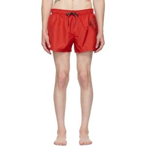 Versace Underwear Red Medusa Swim Shorts