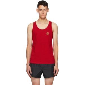 Versace Underwear Red Medusa Tank Top