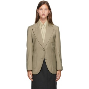 LOW CLASSIC Khaki Stitch Slim Blazer
