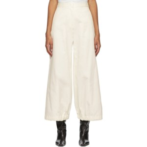 Edit Off-White Drawcord Trousers