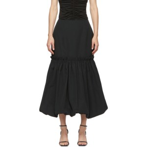 Edit Black Bubble Hem Skirt