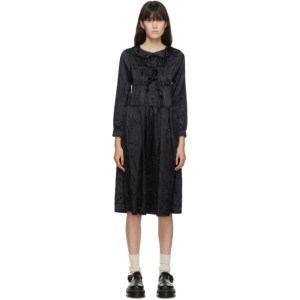 Comme des Garcons Girl Navy Satin Bow Dress