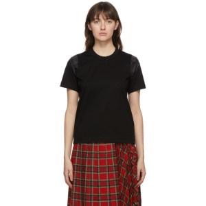 Noir Kei Ninomiya Black Satin Sleeve T-Shirt