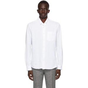 Harmony White Cotton Pique Celestin Shirt