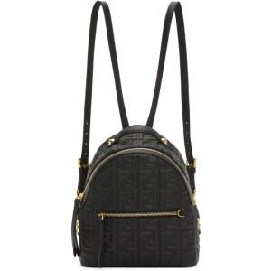 Fendi Black Mini Forever Fendi Backpack