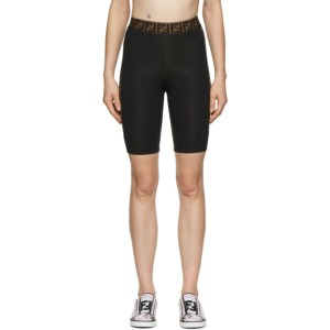 Fendi Black Fendirama Cycling Shorts