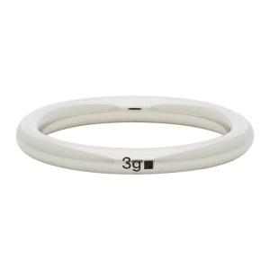 Le Gramme Silver Polished Le 3 Grammes Bangle Ring