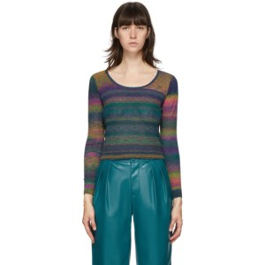 Simon Miller Multicolor Amo Scoop Neck Sweater