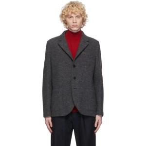 Harris Wharf London Grey Wool Pressed Blazer