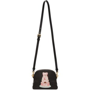 Moschino Black Cake Teddy Bear Shoulder Bag