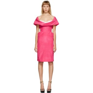 Moschino Pink Cowl Neck Short Dress