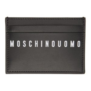 Moschino Black Fantasy Print Card Holder