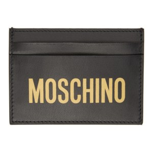 Moschino Black Logo Card Holder