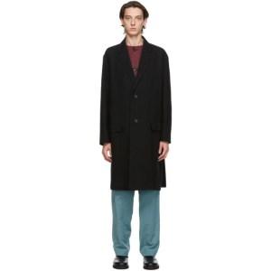 Issey Miyake Men Black Nep Tweed Coat