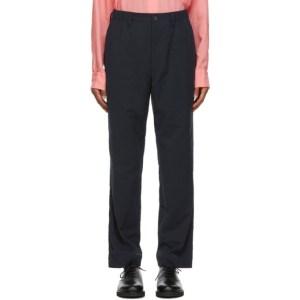 Issey Miyake Men Navy DFC-H Trousers