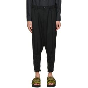 Issey Miyake Men Black Twist Trousers