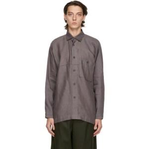 Issey Miyake Men Grey Linen Shirt