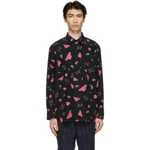 Issey Miyake Men Black Geometric Shirt