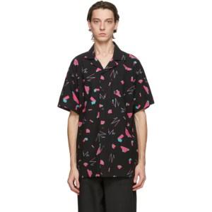 Issey Miyake Men Black Geometric Short Sleeve Shirt