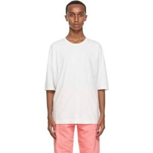 Issey Miyake Men White Cotton T-shirt