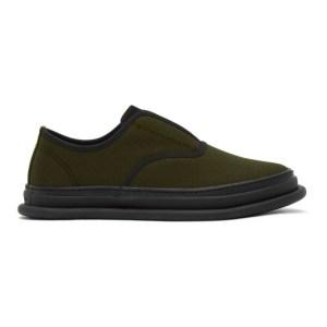 Issey Miyake Men Khaki Amembo Sneakers