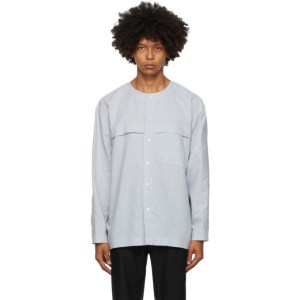 Homme Plisse Issey Miyake Grey Linen and Cotton Shirt