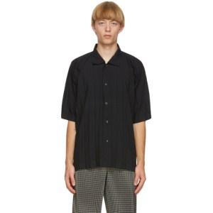 Homme Plisse Issey Miyake Black Edge Short Sleeve Shirt