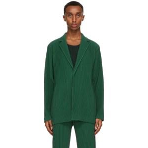 Homme Plisse Issey Miyake Green Tailored Pleats Blazer