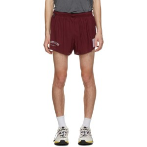 Satisfy Burgundy Long Distance 2.5 Inches Shorts