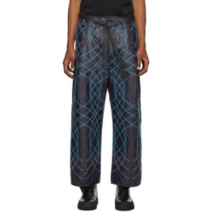 Craig Green Navy Embroidered Swirl Trousers