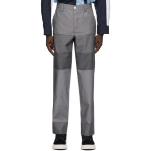 Sunnei Grey Paneled Straight Trousers