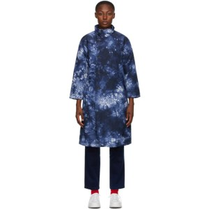 Blue Blue Japan Blue and White Kagozome Long Coat