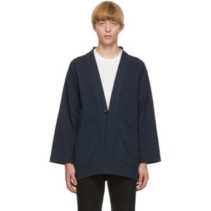 Blue Blue Japan Navy Cotton Haori Cardigan