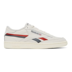 Reebok Classics Off-White and Red Club C Revenge Sneakers