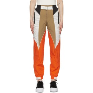 adidas Originals Tan and Orange Paolina Russo Edition Piping Track Pants