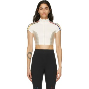 adidas Originals White Paolina Russo Edition Crop Top