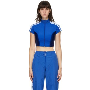 adidas Originals Blue Paolina Russo Edition Crop T-Shirt