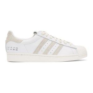 adidas Originals White and Grey Superstar Sneakers