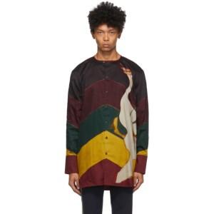 Wales Bonner Multicolor Swan Bowling Shirt