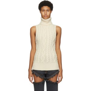 Telfar Off-White Halter Turtleneck