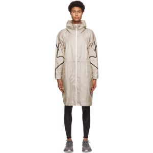 adidas by Stella McCartney Taupe Packable Lightweight Parka