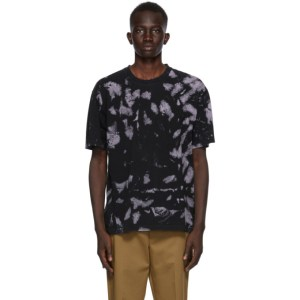 CMMN SWDN Black and Purple Bleach Ridley T-Shirt
