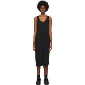 John Elliott Black High Twist Mid-Length Dress