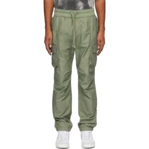 John Elliott Green Sateen Cargo Pants