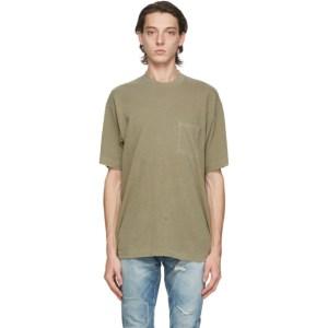 John Elliott Green Faded Pocket T-Shirt