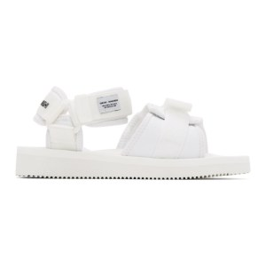 Suicoke White maharishi Edition Kuno Flat Sandals