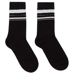 1017 ALYX 9SM Black and White Horizontal Stripe Socks